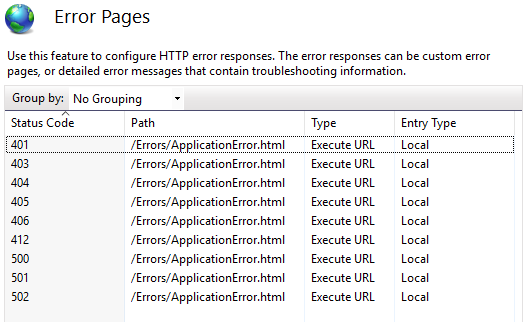 Custom Error Pages for IIS and Asp net - Wayne Clifford Barker