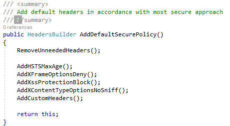 Add security headers to asp net core - Wayne Clifford Barker