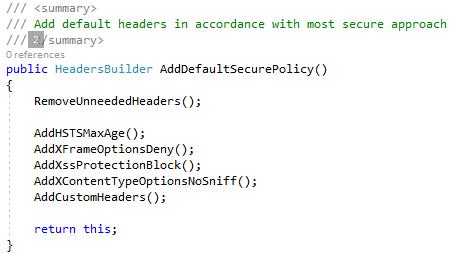 Asp.net core security headers